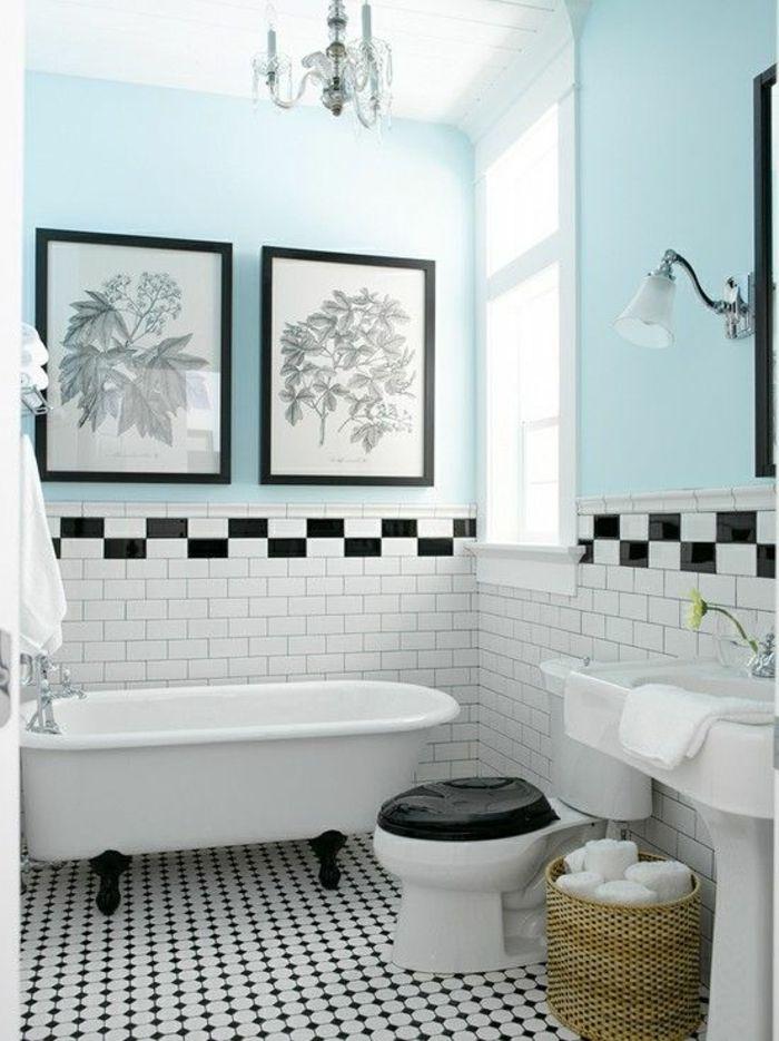 Carrelage blanc fantaisie maison et mobilier - Carrelage metro bleu ...