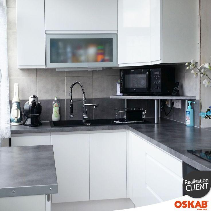 Mod le petite cuisine quip e maison et mobilier - Modele cuisine petite surface ...