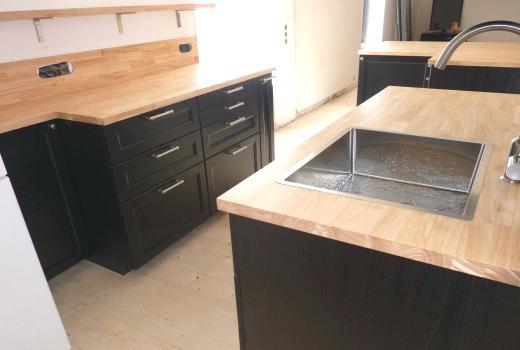 plan de travail cuisine bois ikea maison. Black Bedroom Furniture Sets. Home Design Ideas