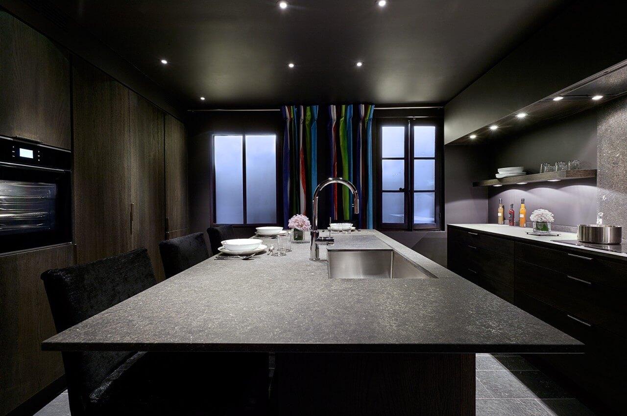 Modele de cuisine moderne avec ilot central - Exemple cuisine avec ilot central ...