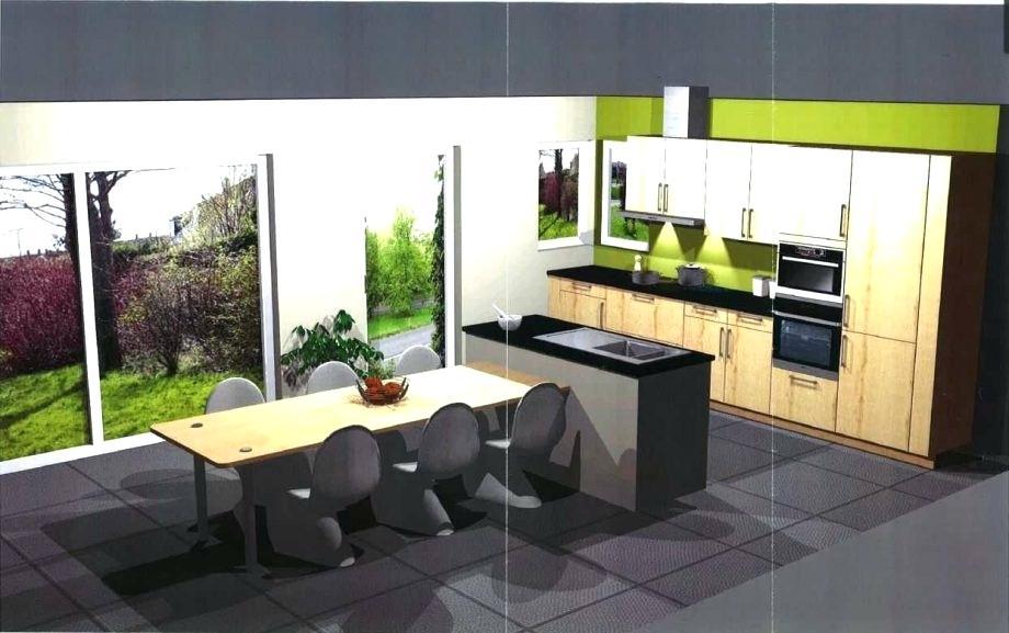 Modele cuisine avec table intégrée