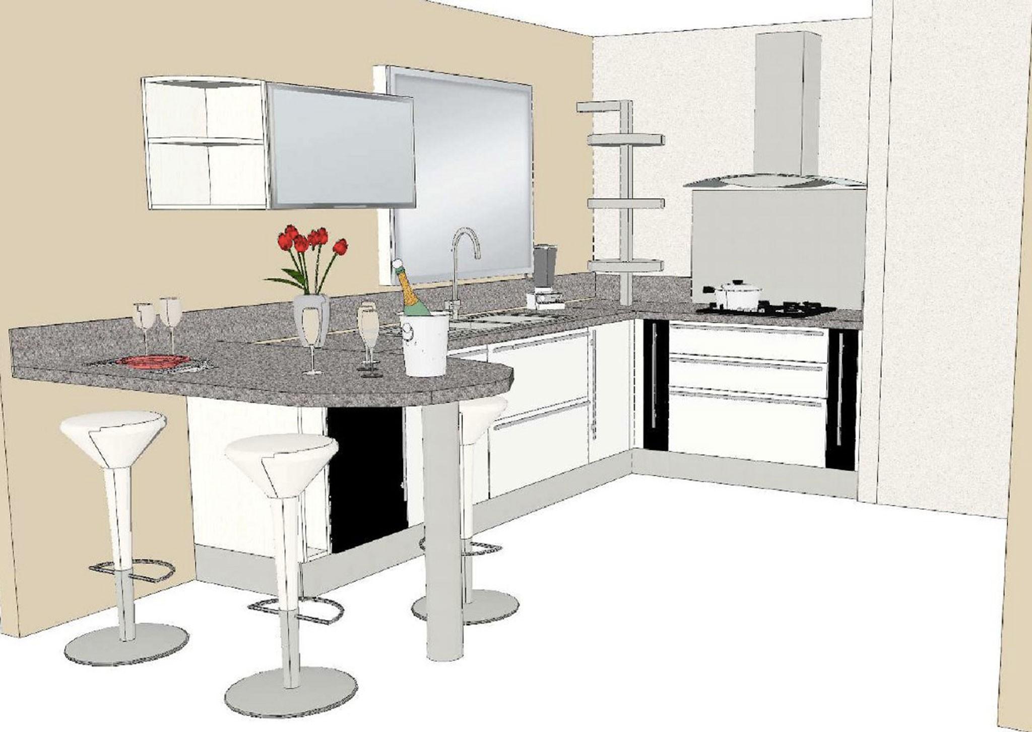 Plan cuisine am nag e en u maison et mobilier - Modele cuisine amenagee ...