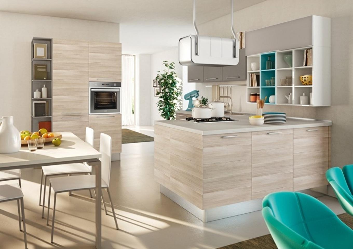 Deco cuisine bois et noir maison et mobilier - Cuisine en bois blanc ...