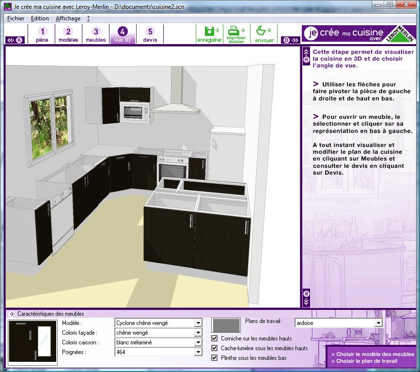 Faire plan cuisine gratuit 3d maison et - Logiciel de plan de cuisine 3d gratuit ...