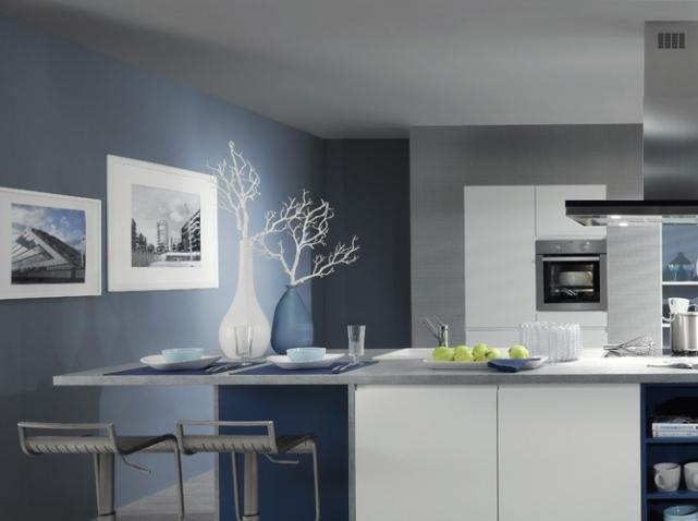 Couleur Mur Cuisine Bleu Atwebster Fr Maison Et Mobilier
