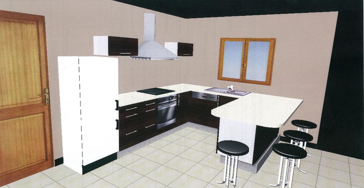 Plan de cuisine 3d gratuit maison et mobilier - Plan de cuisine 3d ...