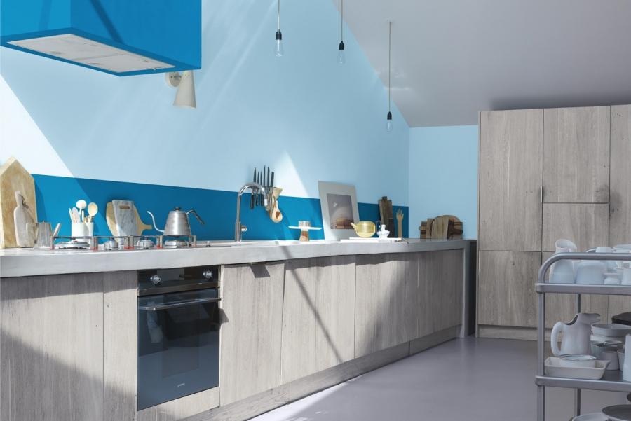 Deco cuisine bleu acier - Atwebster.fr - Maison et mobilier