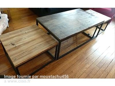 Maison du monde table basse island maison et mobilier for Table basse industrielle maison du monde