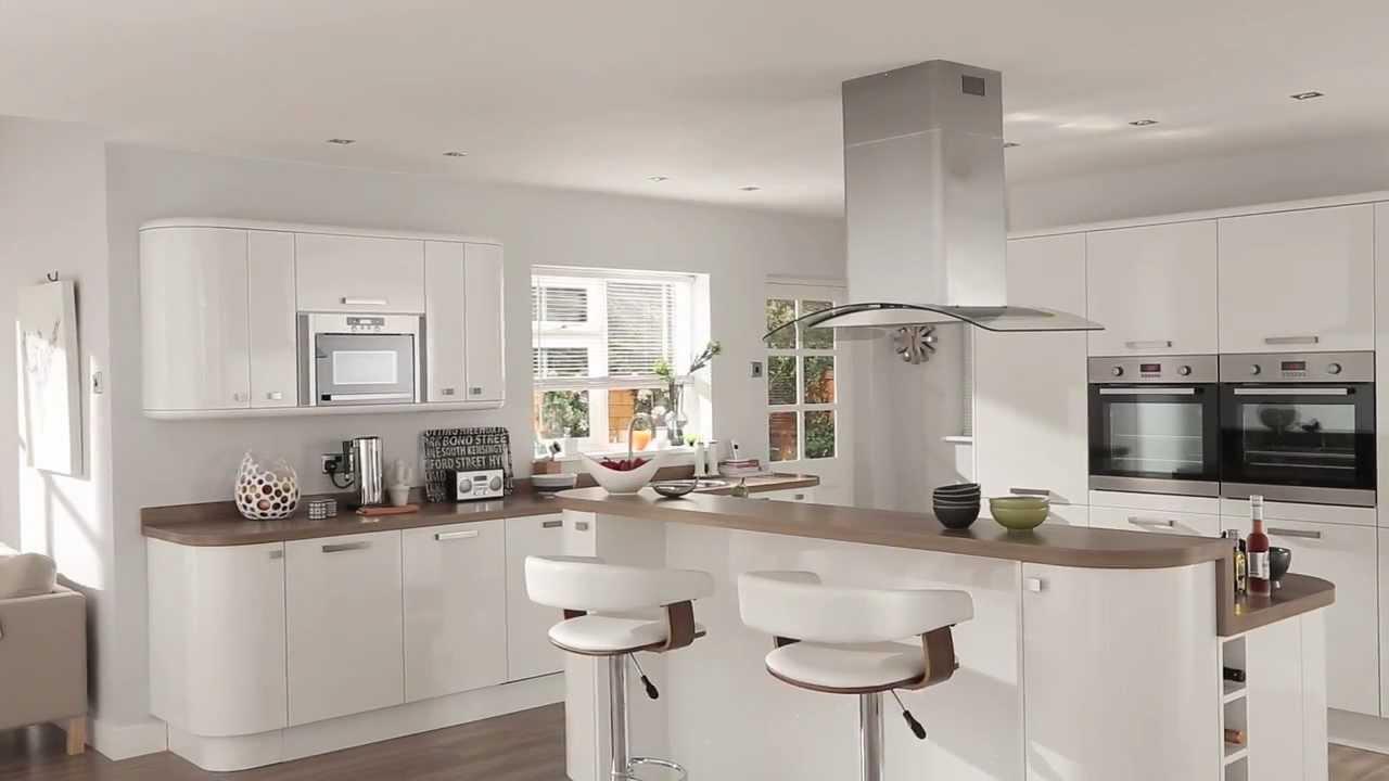 Modele cuisine laque blanc maison et mobilier - Cuisine equipee blanc laquee ...