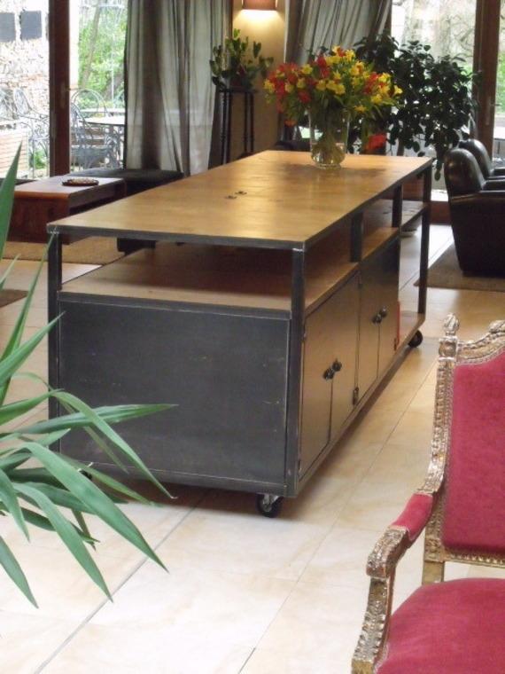 Table De Cuisine Bois Et Zinc Atwebster Fr Maison Et Mobilier