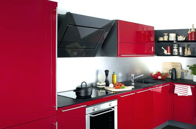 Meuble haut cuisine rouge but maison et mobilier - Cuisine rouge but ...