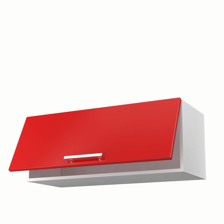 meuble haut cuisine rouge laque maison et. Black Bedroom Furniture Sets. Home Design Ideas