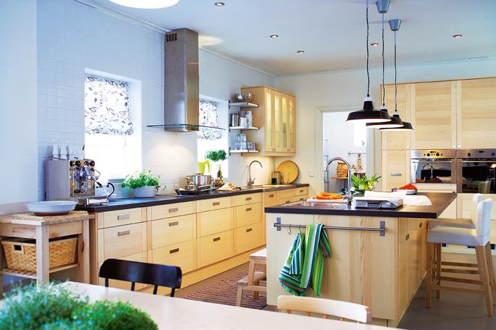 Couleur pour cuisine bois clair maison et Meuble bois clair