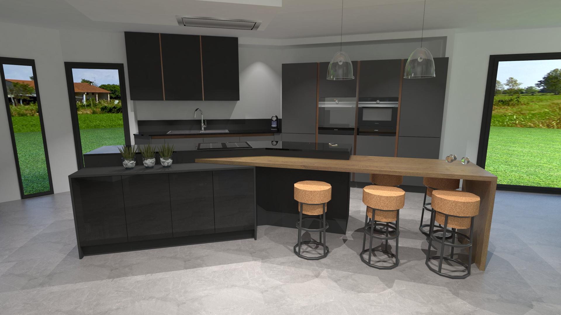 Meuble haut de cuisine gris anthracite - Atwebster.fr - Maison et ...