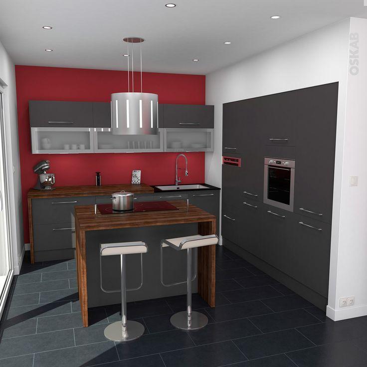 Meuble haut cuisine avec hotte - Atwebster.fr - Maison et mobilier