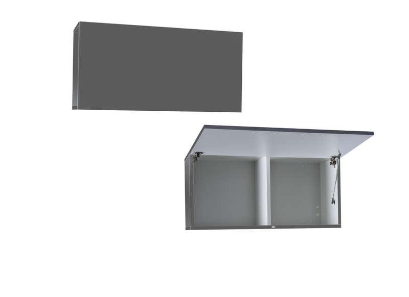 Meuble haut cuisine gris laqué - Atwebster.fr - Maison et mobilier