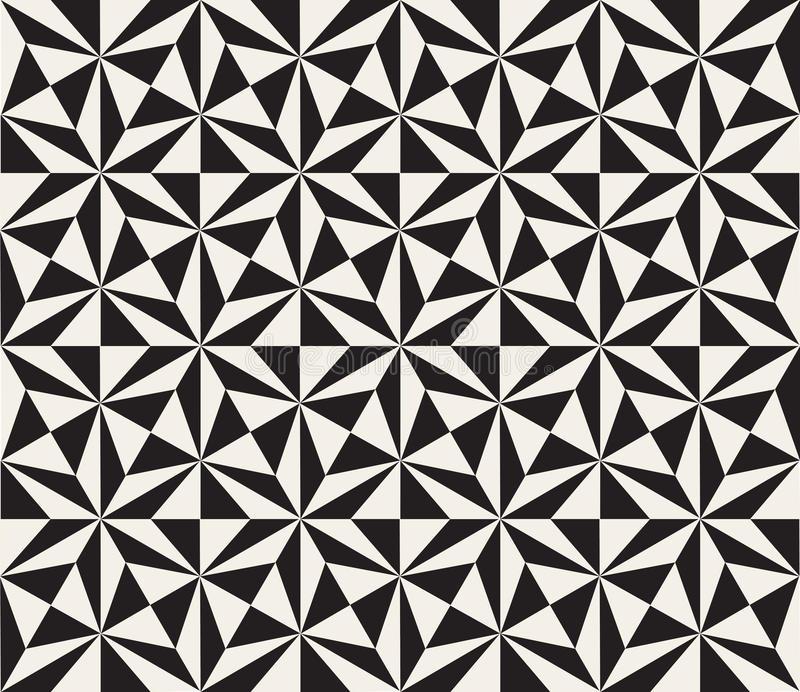 Carrelage triangle noir et blanc