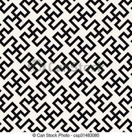 Carrelage noir et blanc geometrique