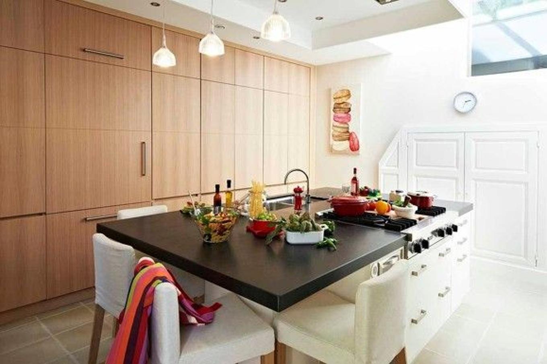 Modele de table pour cuisine maison et - Exemple cuisine avec ilot central ...
