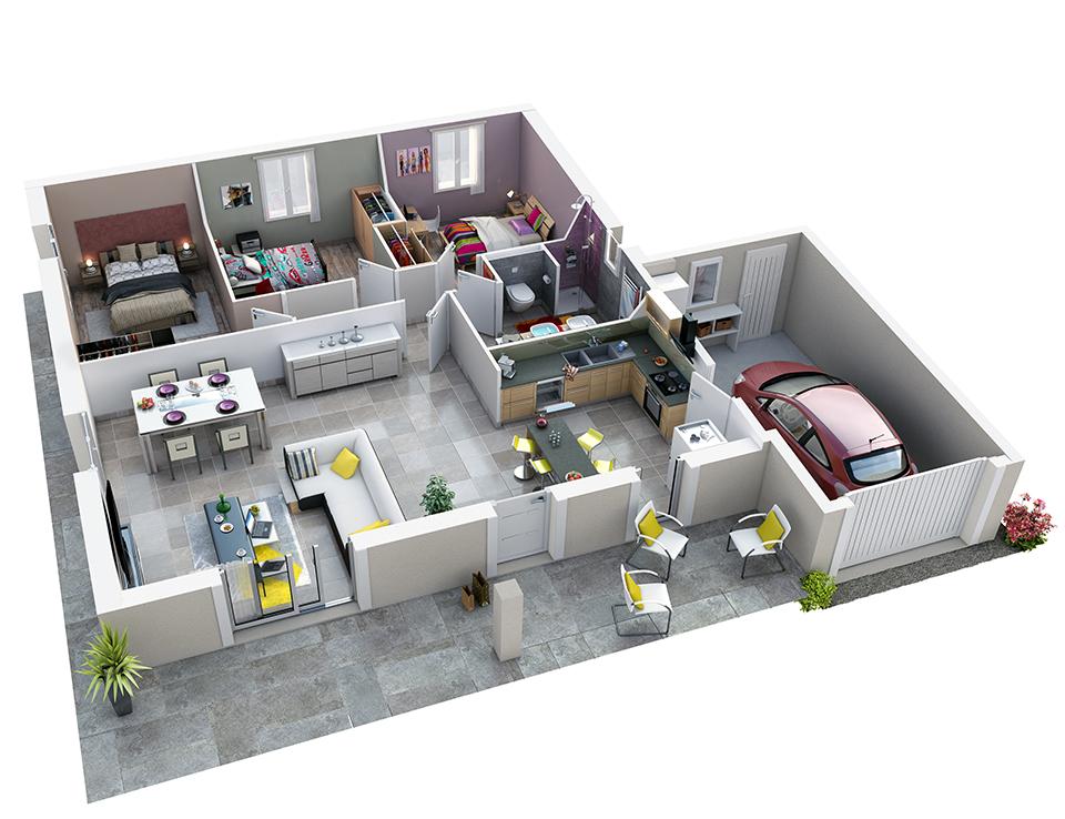 Plan interieur maison cuisine - Atwebster.fr - Maison et mobilier