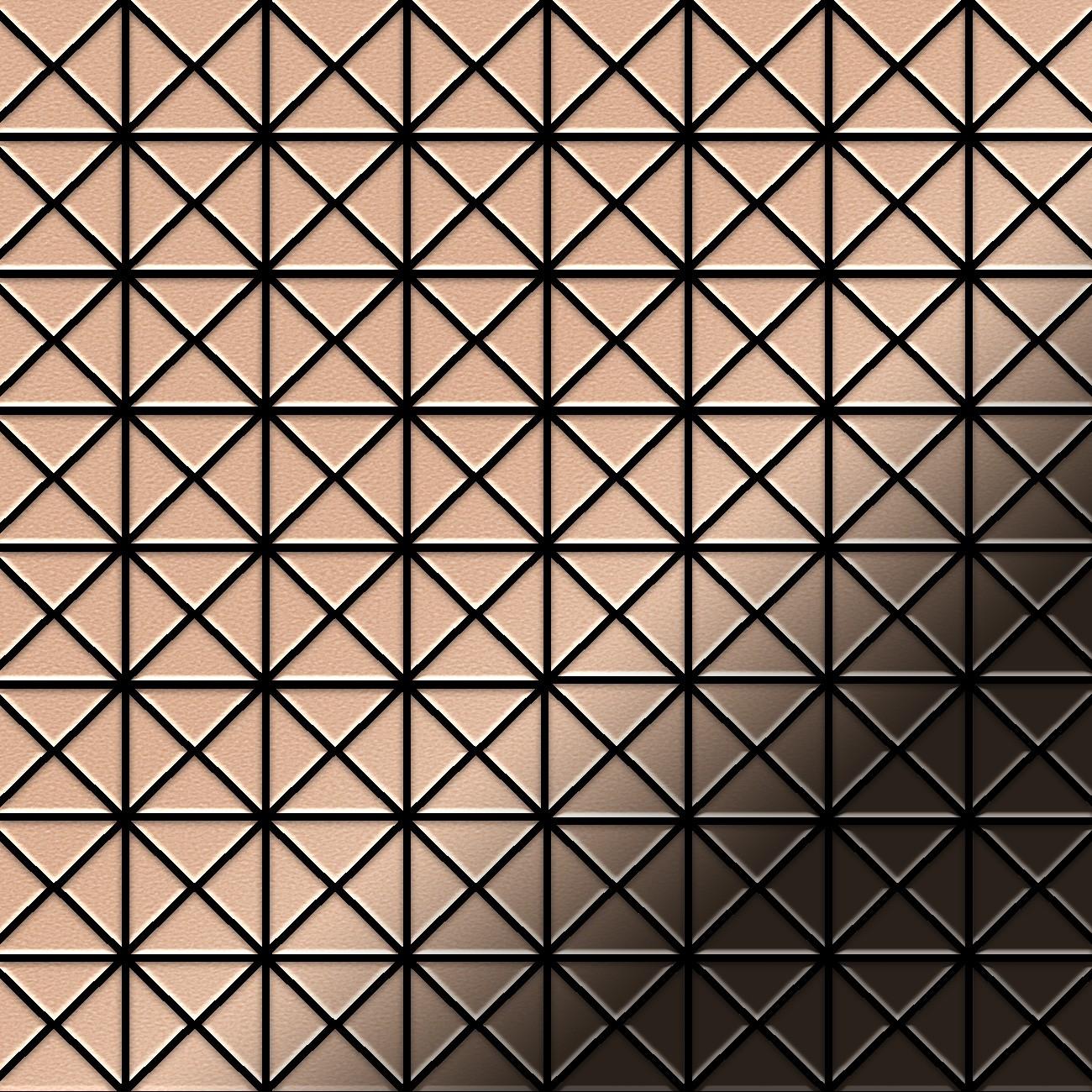 Carrelage mosaique cuivre