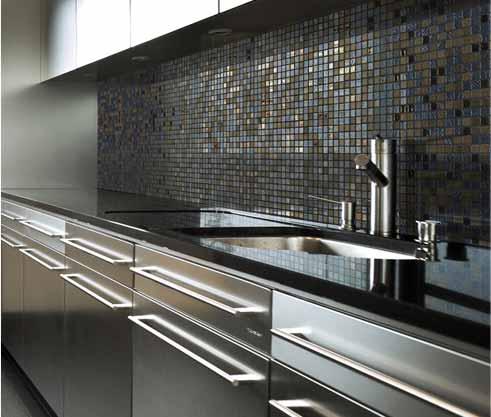 Carrelage mosaique gris cuisine - Atwebster.fr - Maison et mobilier