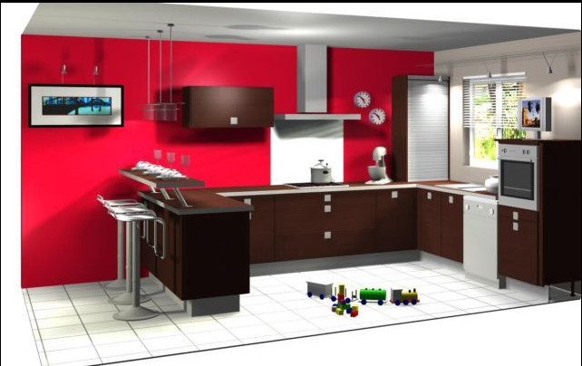 Deco Cuisine Taupe Et Rouge Atwebsterfr Maison Et Mobilier
