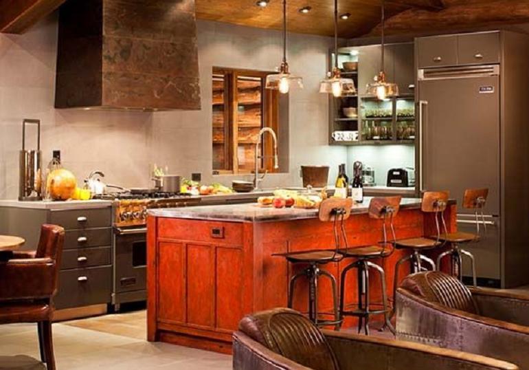 deco cuisine orange et gris maison et. Black Bedroom Furniture Sets. Home Design Ideas