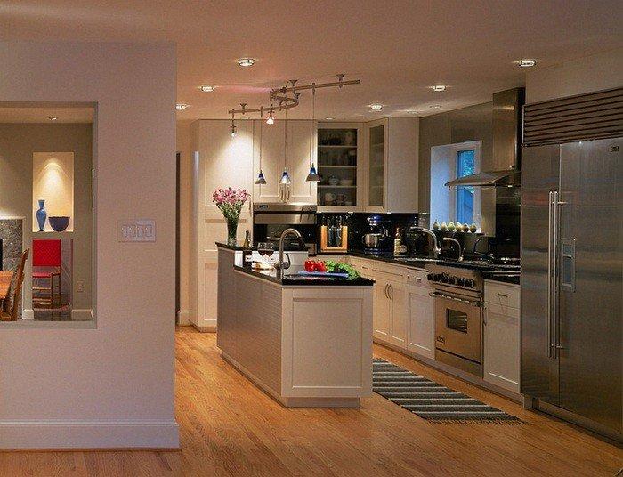 Amenagement petite cuisine avec ilot central atwebster - Amenagement ilot central cuisine ...