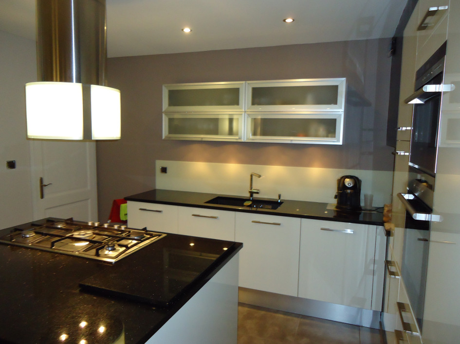 Cuisine Blanc Avec Plan De Travail En Granit Atwebsterfr Maison