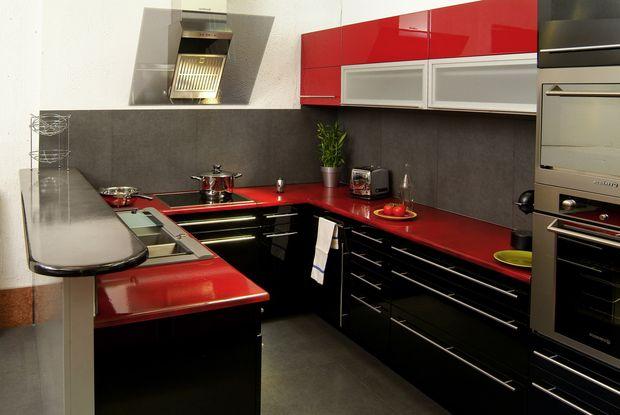 Deco Cuisine Rouge Gris Noir Atwebster Fr Maison Et Mobilier