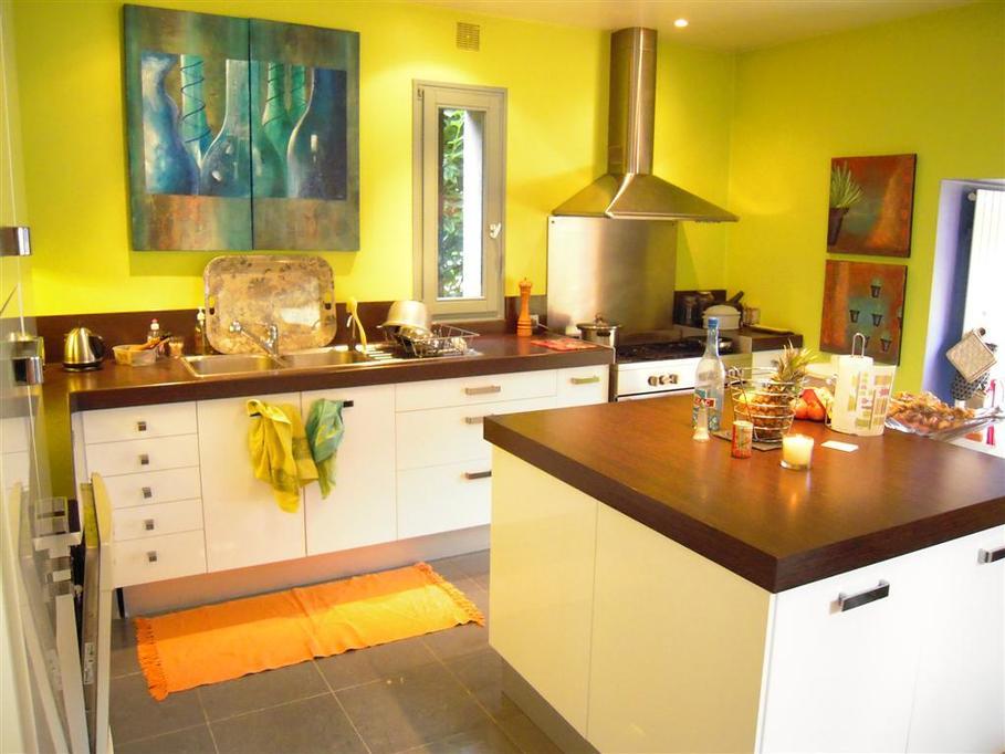 Deco cuisine vert et jaune - Atwebster.fr - Maison et mobilier