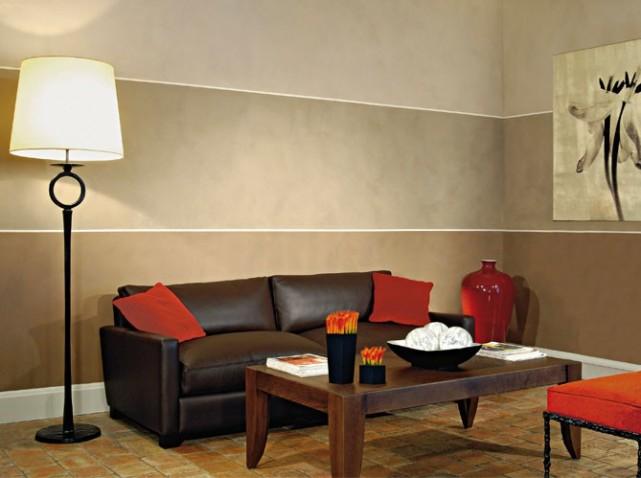 Modele couleur mur salon maison et mobilier - Couleur mur pour salon ...