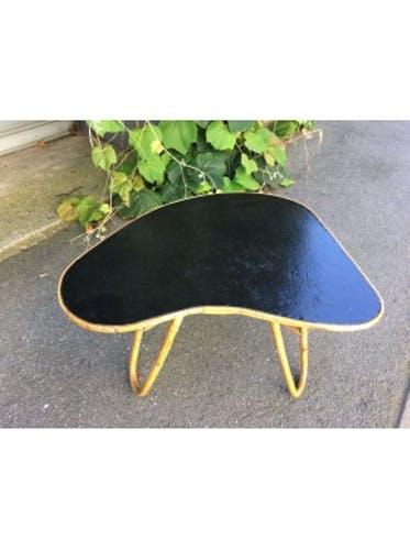 Table basse forme palette peinture