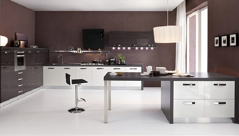 couleur pour cuisine mur maison et mobilier. Black Bedroom Furniture Sets. Home Design Ideas