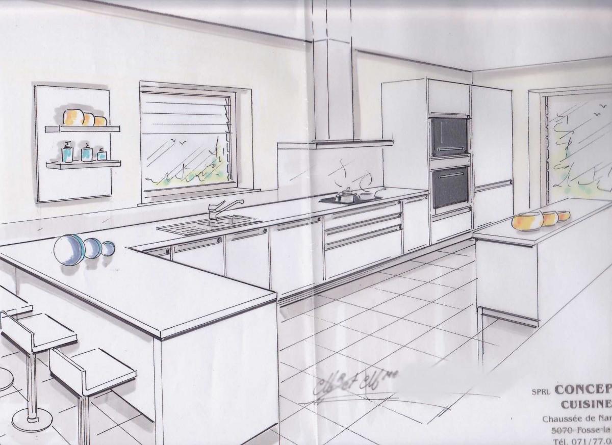 Plan cuisine ouverte ilot central - Atwebster.fr - Maison et mobilier