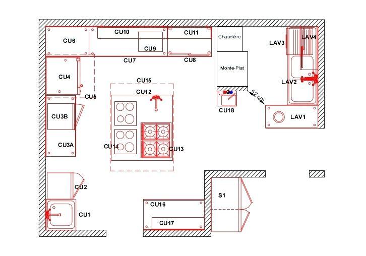 plan cuisine professionnelle autocad maison et mobilier. Black Bedroom Furniture Sets. Home Design Ideas