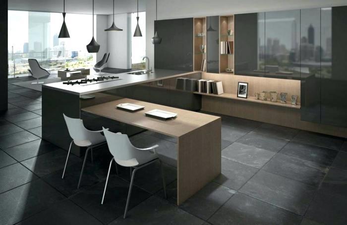 Plan de cuisine en u ouverte maison et mobilier - Plan cuisine en u ...