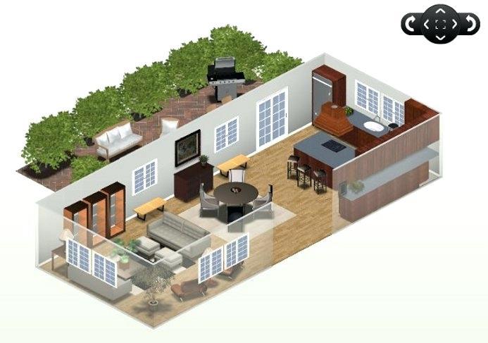 Plan cuisine ouverte sejour maison et mobilier - Agencement salon rectangulaire ...
