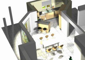 Modele de cuisine ouverte avec ilot - Atwebster.fr - Maison et mobilier