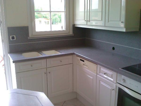 Plan travail cuisine r sine synth se maison et mobilier - Resine carrelage cuisine ...
