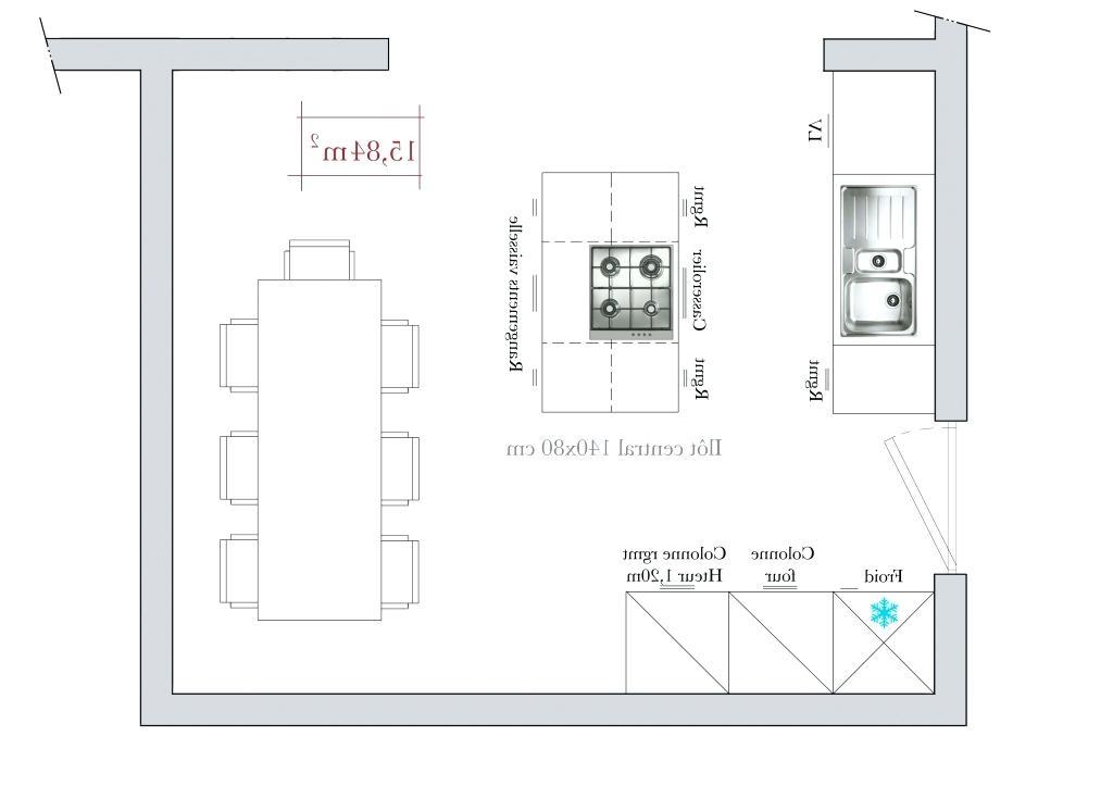 dimension plan de travail central cuisine. Black Bedroom Furniture Sets. Home Design Ideas