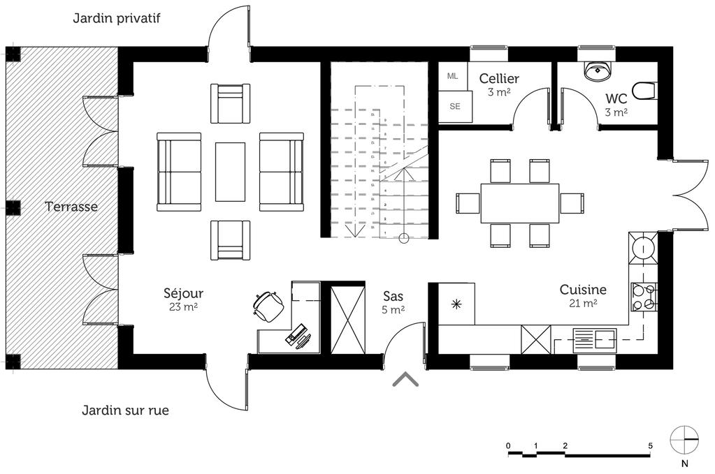 Plan maison avec cuisine ouverte maison - Plan de maison avec cuisine ouverte ...