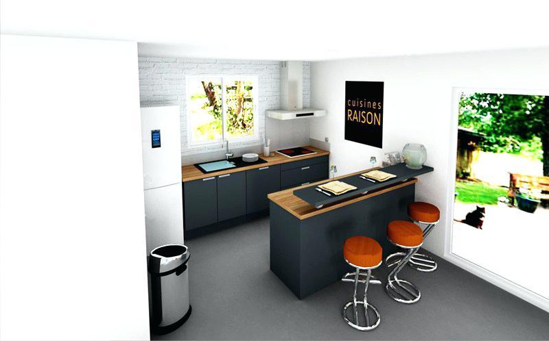 Plan cuisine et salon maison et mobilier - Concevoir sa cuisine en ligne ...