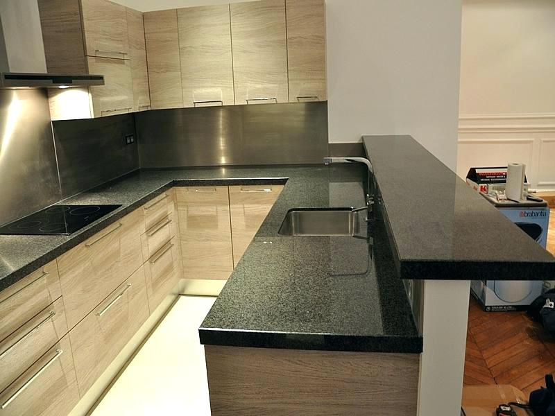Plan travail cuisine granit gris - Atwebster.fr - Maison et mobilier