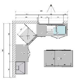 Plan cuisine l maison et mobilier - Plan amenagement cuisine 10m2 ...
