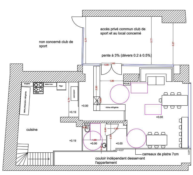 plan de cuisine professionnelle normes maison et mobilier. Black Bedroom Furniture Sets. Home Design Ideas