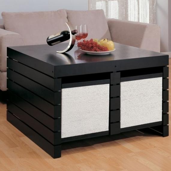 Table basse avec rangement de bouteille - Atwebster.fr - Maison et mobilier