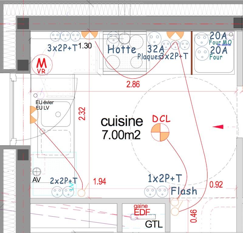 plan technique electrique cuisine maison et mobilier. Black Bedroom Furniture Sets. Home Design Ideas