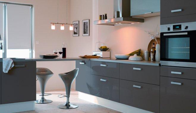 Peinture pour cuisine gris clair maison et mobilier - Cuisine couleur grise ...